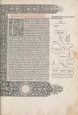Cover of Preclarissimus liber elementorum Euclidis perspicacissimi in artem geometrie incipit qu afoelicissime
