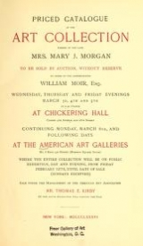 Cover of Priced catalogue of the art collection