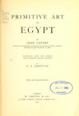 Cover of Primitive art in Egypt