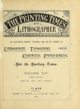 Cover of Printing times and lithographer