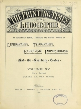 Cover of Printing times and lithographer new ser.:v.15 (1889)