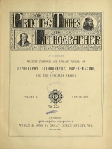 Cover of Printing times and lithographer new ser.:v.1 (1875)