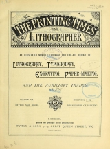 Cover of Printing times and lithographer new ser.:v.7 (1881)