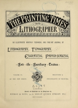 Cover of Printing times and lithographer new ser.:v.9 (1883)