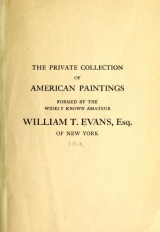 Cover of The private collection of American paintings