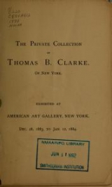 Cover of The private collection of Thomas B. Clarke of New York