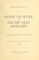 Cover of Proceedings of the Kansas Gas, Water and Electric Light Association
