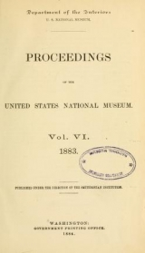 Cover of Proceedings of the United States National Museum