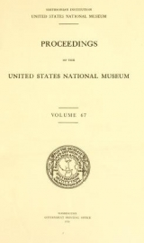Cover of Proceedings of the United States National Museum v. 67 1926