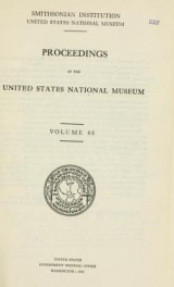 """Cover of """"Proceedings of the United States National Museum"""""""