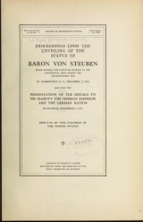 Cover of Proceedings upon the unveiling of the statue of Baron von Steuben