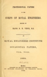Cover of Professional papers of the Corps of Royal Engineers