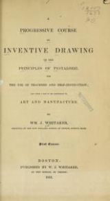 Cover of A progressive course of inventive drawing on the principles of Pestalozzi