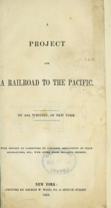 Cover of A project for a railroad to the Pacific