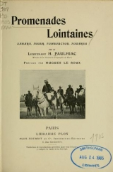 Cover of Promenades lointaines