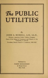 Cover of The public utilities