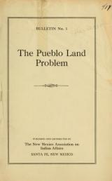 Cover of The Pueblo land problem
