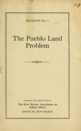 Cover of The Pueblo land problem