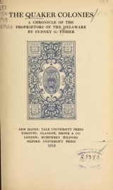 Cover of The Quaker colonies