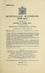 Cover of Queensland handbook, with map