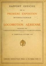 Cover of Rapport officiel sur la première exposition internationale de locomotion aérienne