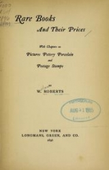 Cover of Rare books and their prices