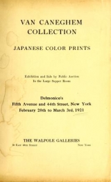 """Cover of """"Rare and valuable Japanese color prints : including the collection of Julio E. van Caneghem of Paris."""""""