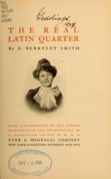 Cover of The real Latin quarter