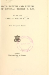 Cover of Recollections and letters of General Robert E. Lee