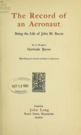 "Cover of ""The record of an aeronaut"""