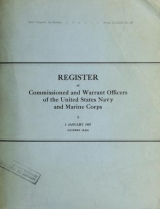 """Cover of """"Register of the commission and warrant officers of the Navy of the United States, including officers of the Marine Corps"""""""