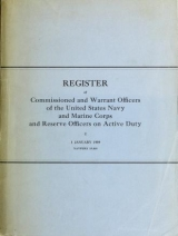 Cover of Register of commissioned and warrant officers of the United States Navy and Marine Corps and reserve officers on active duty