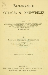 Cover of Remarkable voyages & shipwrecks