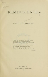 Cover of Reminiscences