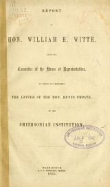 Cover of Report of Hon. William H. Witte