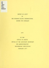Cover of Report on audit of The Woodrow Wilson International Center for Scholars