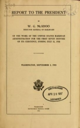 Cover of Report to the president