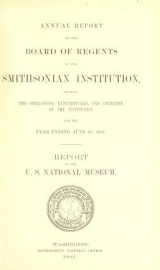 """Cover of """"Report upon the condition and progress of the U.S. National Museum during the year ending June 30 ... /"""""""