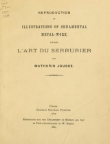 Cover of Reproduction of illustrations of ornamental metal-work