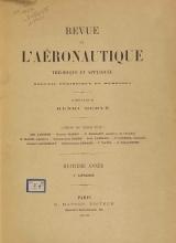Cover of Revue de l'aéronautique théorique et appliquée v.8 (1895)