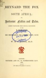 Cover of Reynard the fox in South Africa or, Hottentot fables and tales