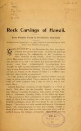 Cover of Rock carvings of Hawaii
