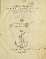 Cover of Rote perpetue, per le quali si puo con qual numero di due dadi si voglia