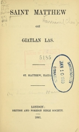 Cover of Saint Matthew giē giatlan las
