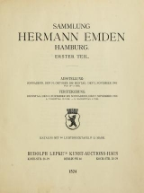 Cover of Sammlung Hermann Emden, Hamburg