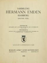 Cover of Sammlung Hermann Emden, Hamburg