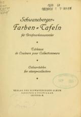 """Cover of """"Schwaneberger, Farben-Tafeln für Briefmarkensammler ="""""""