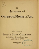 Cover of A Selection of Oriental works of art