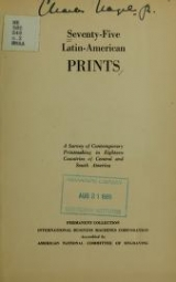 Cover of Seventy-five Latin-American prints
