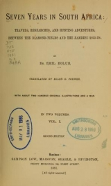 Cover of Seven years in South Africa